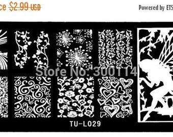 On Sale nail stamping plate,  TU-29,  Nail Art