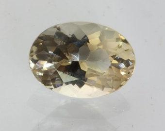 Yellow Oregon Sunstone VVS Clarity No Shiller Precision Oval 12x9 mm 3.78 carat
