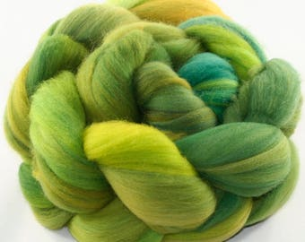 Hand Dyed roving - Superwash Merino wool spinning fiber