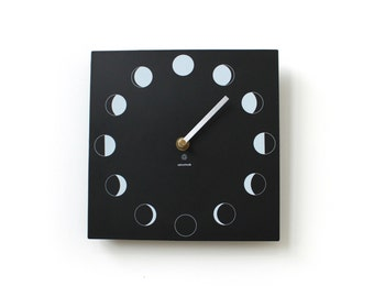 Moon Phase Wall Clock made from recycled paper packaging