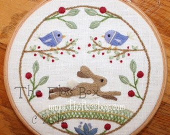 The Hare Crewel Embroidery Pattern