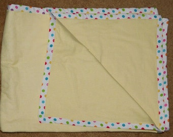 "30"" by 41"" Homemade Snuggle Flannel Reversible Baby Blanket"
