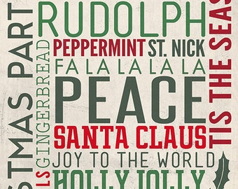Christmas Typography (Art Prints available in multiple sizes)