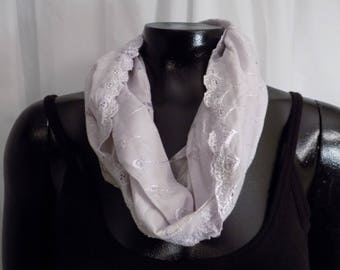 Eco Dyed Lavender Jersey Infinity Scarf with Cochineal