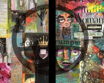 Art Journaling Digital Collage Sheets September 2017