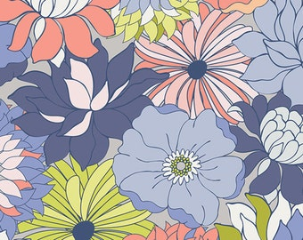 Flower Bed Iris fabric (SOLD in 1/2 YARD INCREMENTS) From Chic Flora by Art Gallery Fabrics Studio (Art Gallery Fabrics)