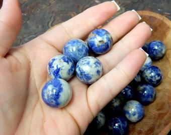 Sodalite Sphere Ball-- Round Sodalite Stone - Reiki - Metaphysical - Crafting - Crystal Grids  (RK163B4-03)