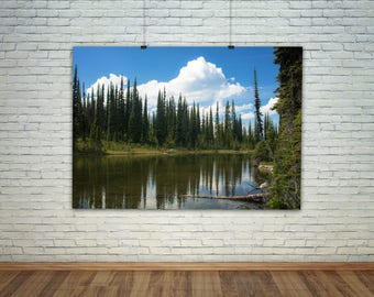 Travel Photography, Wanderlust, Lake Photography, Lake On Mount Revelstoke Photography