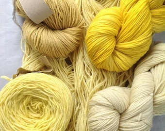 APPLEAOK Plant dyed SOFTWOOL ~Choose your own ~ Sport weight wool yarn choose from several colours of plant dyed yarns