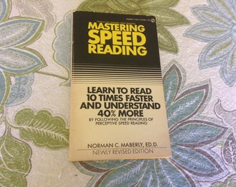 Mastering Speed Reading 1973 Edition