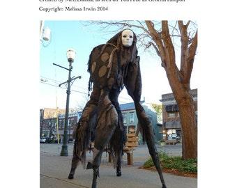 4 Legged Stilt Spirit Halloween Costume Tutorial - As Seen on YouTube - Immediate download!