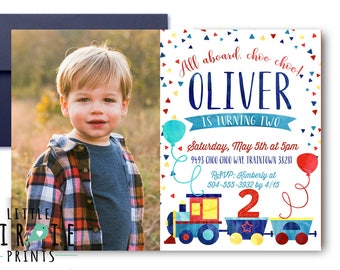 TRAIN INVITATION Train birthday party printable invitation Train Birthday Watercolor Train Choo Choo Invitation Choo Choo Train
