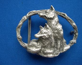 FOX belt buckle jewelry sculpture art