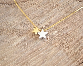 "A Sky Full Of Stars"" Necklace - Lucky Charm Necklace - Delicate Layered Star Necklace - Minimalist and Dainty"