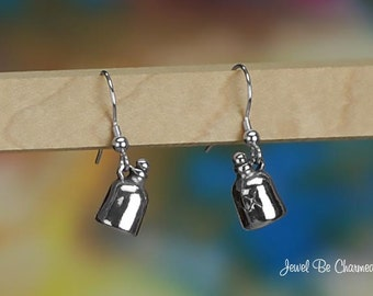 Sterling Silver Moonshine Jug Earrings Fishhook Earwires Solid .925