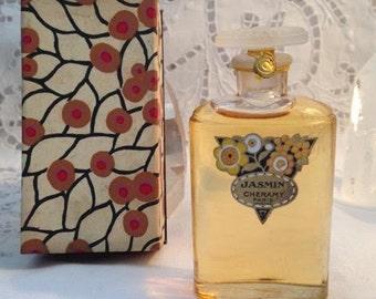 Cheramy, Jasmin, 30 ml. or 1 oz. Flacon, Parfum Extrait, 1925, Paris, France ..
