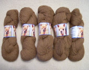 Alpaca Yarn - Toffee and Hadassa (2 ply worsted weight)