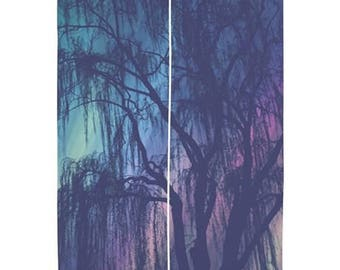 """Sheer Curtains 60x60, 60x84"""" - Home Decor, Weeping Willow tree, nature photography by RDelean Designs"""