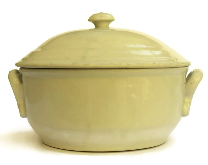 Antique French Stoneware Soup Tureen. Rustic White Tureen. French Rustic Kitchen Decor.