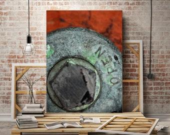 Rust, Red, Urban, Industrial, Wall Art