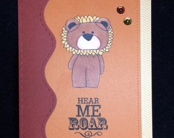 Hear Me Roar Encouragement Greeting Card