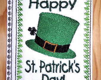 Embroidery Greeting Cards by DiElobi – St. Patrick's Day #3