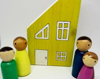 Wooden houses painted to specification