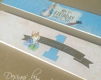 Classic Peter Rabbit Water Bottle Labels, Water Bottle Labels, Peter Rabbit, Birthday, Baby Shower