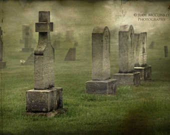 cemetery headsones tombstones architecture photography goth haunting fog