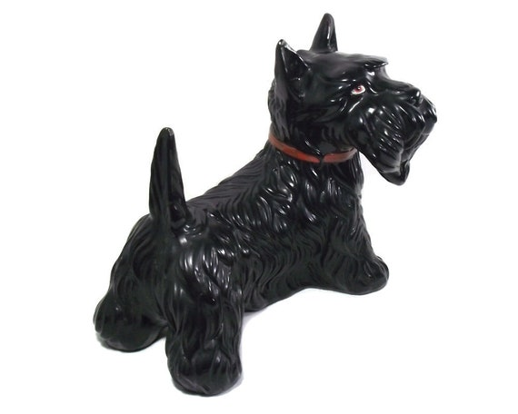 "9.5"" Vintage Pottery Scottie Dog Figurine"