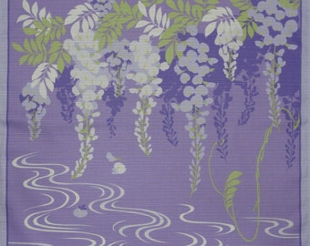 Furoshiki Floral Fabric 'Wisteria' Fabric Cotton Japanese Fabric 50cm w/Free Insured Shipping