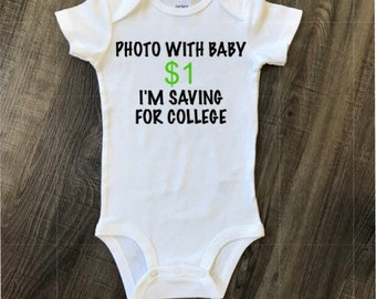 Photo with baby, saving for college