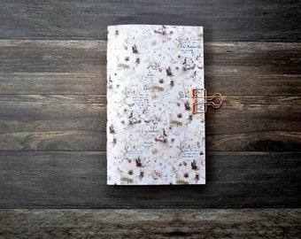 Travelers Notebook Insert with Cherry Blossoms - Midori Insert - TN Insert - Planning Insert  - Art Insert - Bullet Journal - Scrapbooking