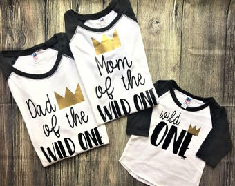 Dad of the Wild One Shirt, Mom of the Wild One shirt // where the wild things are shirt, queen of the wild things, wild one, wild things