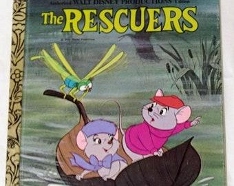 Spring SALE 20% OFF Walt Disney Productions, The Rescuers Golden Book. 1978 Excellent