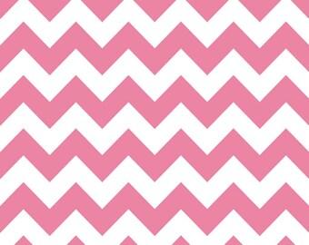 CLEARANCE - Hot Pink Chevron by Riley Blake - 1/2 Yard