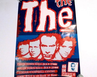 The The Poster 1989 Vintage Band Mind Bomb Auckland Wellington Christchurch Gigs New Zealand Live in Concert Tour Matt Johnson Johnny Marr