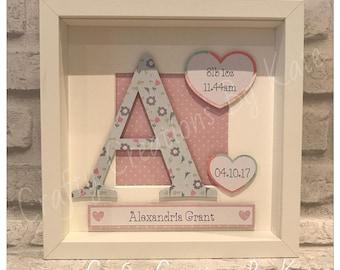 Personalised Baby Frame, Baby Gift, Personalised Gift, Christening Gift, Personalised Baby Gift, Baby Girl Gift, Baby Boy Gift