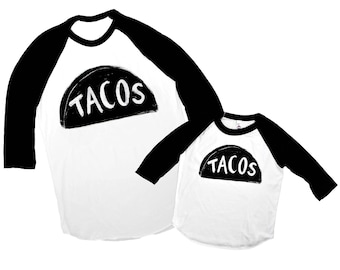 Dad Baby Matching Tshirts, Taco Twosday, Family matching T Shirts, Father Son Matching, Basebeall Jerseys, husband gift, funny mens tshirt
