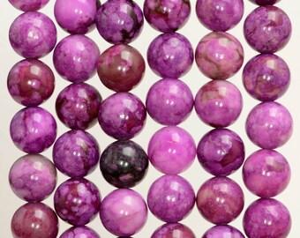 10mm Purple Sugilite Gemstone Round 10mm Loose Beads 15.5 inch Full Strand (90188719-88)