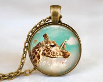 Cute Giraffe Necklace Cute Pendant - Summer Necklace Cute Animal Pendant - Cute Giraffe Jewelry Summer Pendant - Cute Animal Gift Necklace