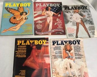 1976 Playboy Magazine 5 Issue Lot