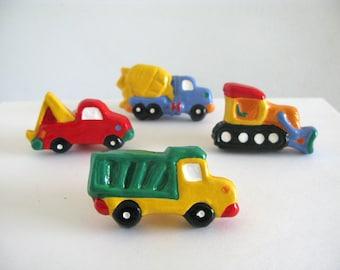 Truck Knob Set - Construction Dresser Drawer Knobs - kids room - boys