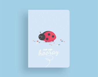 Birthday Card • Little Ladybug by Celebratink • Greeting Card • Blue