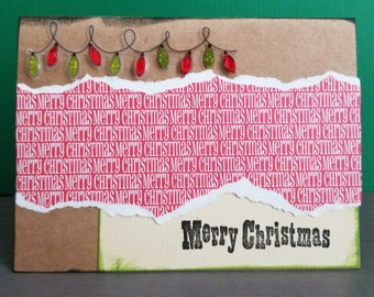 Merry Christmas Cards- set of 4/Cardstock/Blank Cards/Greetings