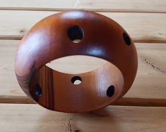 Boho Wood Bangle Bracelet