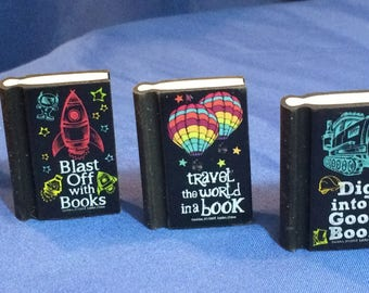 Set of 3 mini books sized for 18 inch dolls like American Girl dolls. 18 inch doll accessories
