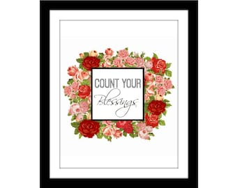 count your blessings | instant digital download