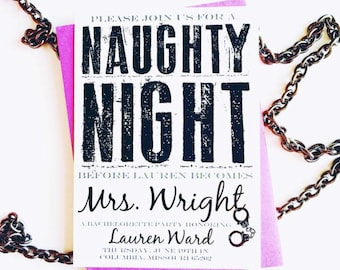 Naighty Night | Girls Night Out | Bachelorette Party invitation | Digital File