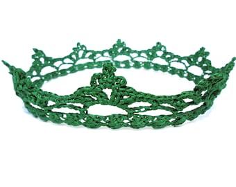 Green crown, child crown, baby crown, birthday crown, crochet baby crown, children crown, childrens crown, royal crown, handmade crown